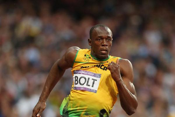 Usain Bolt of Jamaica competes in the Men's 200m Semifinals on Day 12 of the London 2012 Olympic Games at Olympic Stadium on August 8, 2012  (Getty Images)