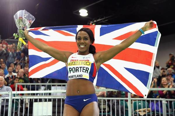 Tiffany Porter at the IAAF World Indoor Championships Portland 2016 (Getty Images)