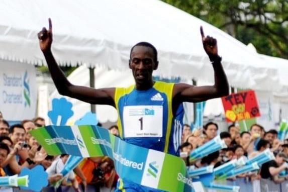 Kenneth Mungara victorious in Singapore (Singapore Marathon organisers)