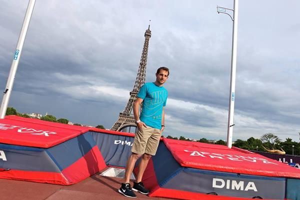Renaud Lavillenie at the Trocadéro in Paris (Organisers)