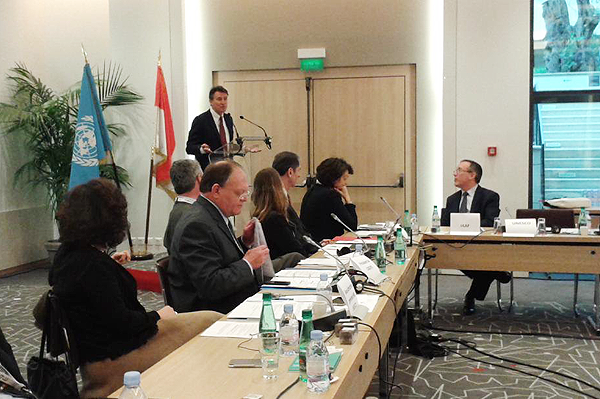 IAAF President Sebastian Coe speaking at of UNESCO's Intergovernmental Committee for Physical Education and Sport  (IAAF)