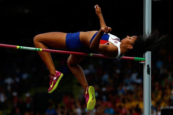 Morgan Lake in the high jump at the IAAF World Junior Championships, Oregon 2014 (Getty Images)