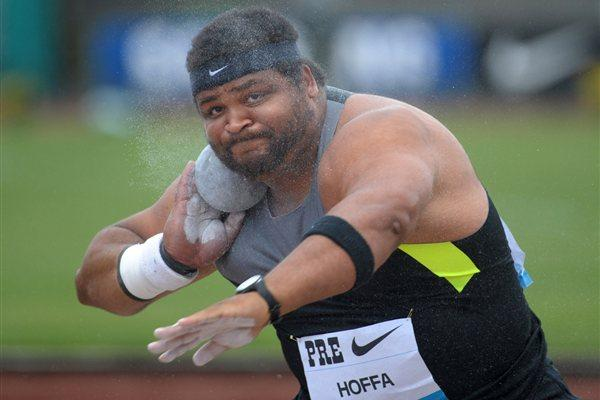 Reese Hoffa prepares to Put in Eugene (Kirby Lee - Image of Sport)