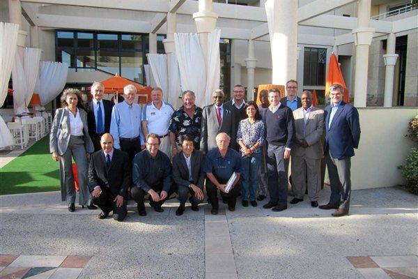 IAAF Press Commissions meets in Monaco, 18 October 2012 -  members were joined by IAAF President Lamine Diack (IAAF)