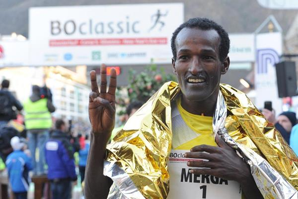 Imane Merga after winning the 2013 BoClassic on New Year's Eve  (Organisers)