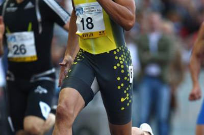 Wallace Spearmon wins the men's 200m in Berlin's Golden League (Getty Images)