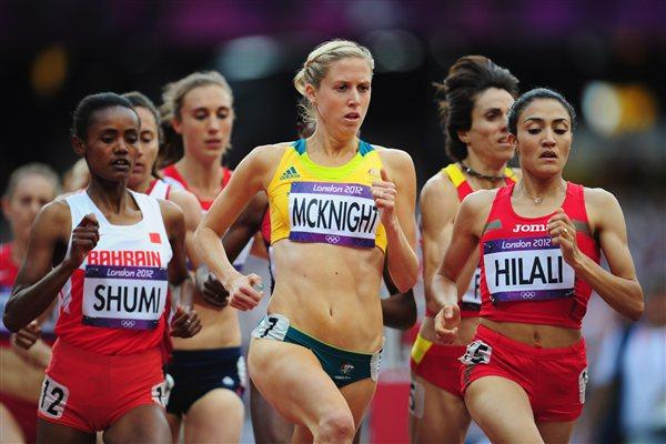 Kaila McKnight of Australia competes in the Women's 1500m heat on Day 10 of the London 2012 Olympic Games at the Olympic Stadium on August 6, 2012  (Getty Images)