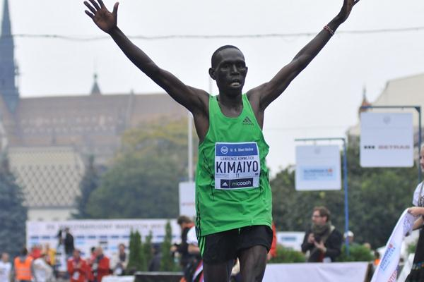 Lawrence Kimaiyo after his course record in Kosice (Organisers)