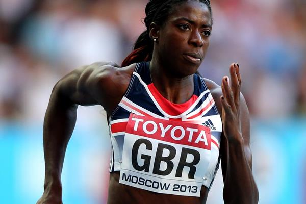 Britain's Christine Ohuruogu in the 4x400m (Getty Images)