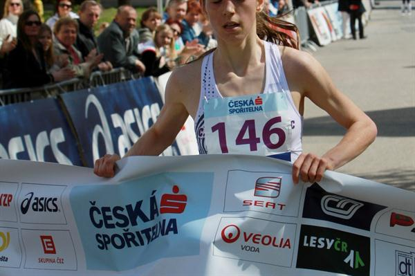 Anezka Drahotova winning in Podebrady (Jan Kucharčík for atletika.cz)