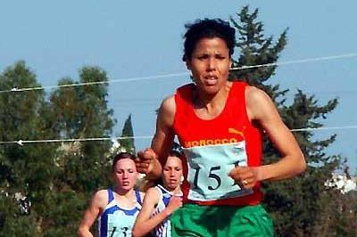 Zhor El Kamch (MAR) women's race winner at World Military XC (Slim Gomri)
