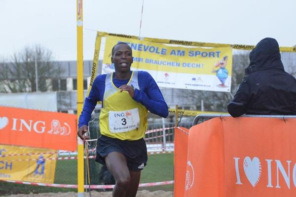 Alex Kibet winning at the 2014 ING Eurocross meeting in Diekirch  (Kohl Rosch)