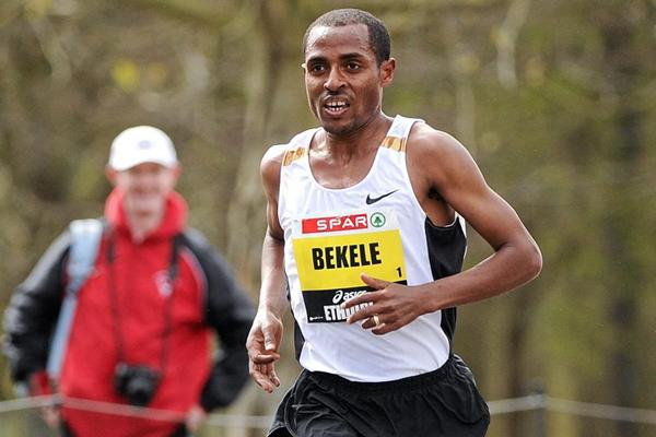 Kenenisa Bekele on his way to a successful title defence at the SPAR Great Ireland Run (Organisers)