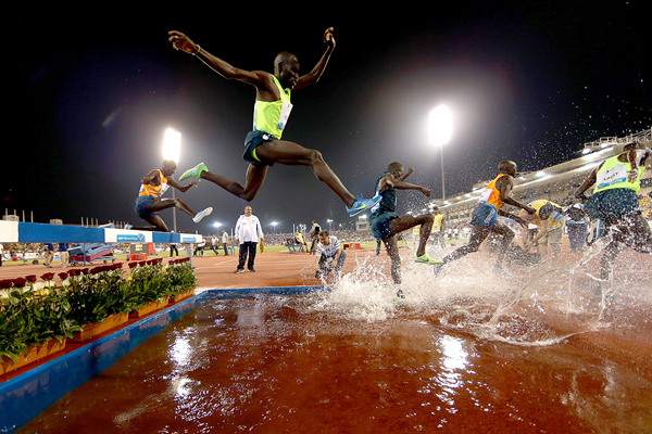 The men's 3000m steeplechase in action at the IAAF Diamond League meeting in Doha (Getty Images)
