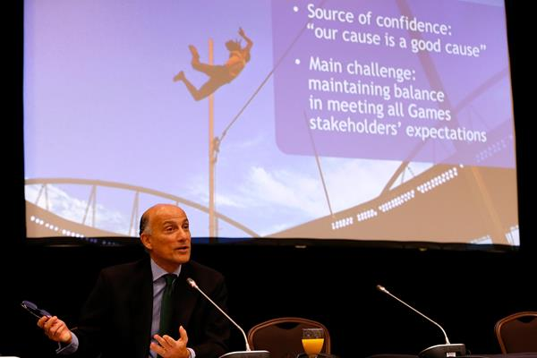 Sidney Levy CEO Rio 2016 delivers progress report to IAAF Council (Getty Images)