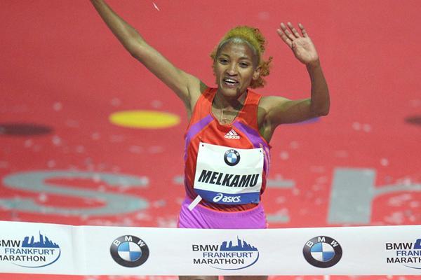Auspicious debut - Meselech Melkamu takes fast victory in Frankfurt (Jiro Mochizuki)