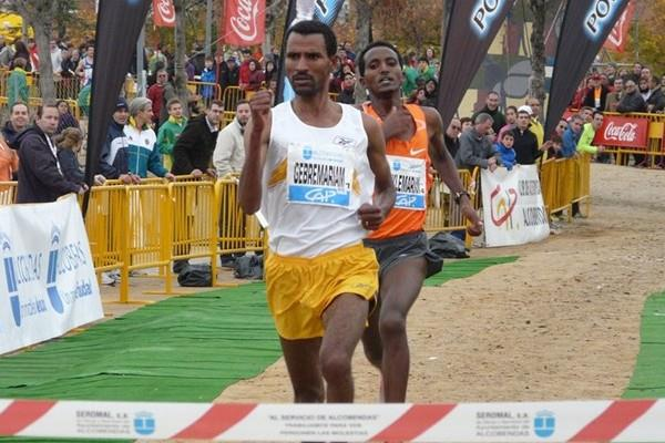 In Alcobendas, Gebre Gebremariam making it four victories in four outings in autumn 2009 (Miguel Alfambra)