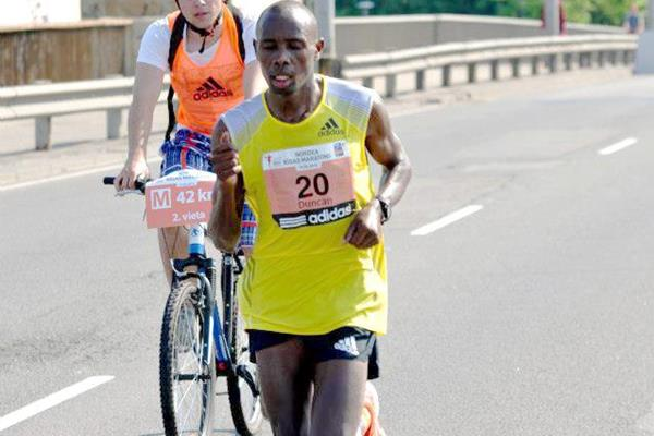Duncan Koech in action at the Riga Marathon (Organisers)