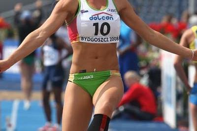 Larissa Perry of Australia during the Women's Long Jump qualifications (Getty Images)