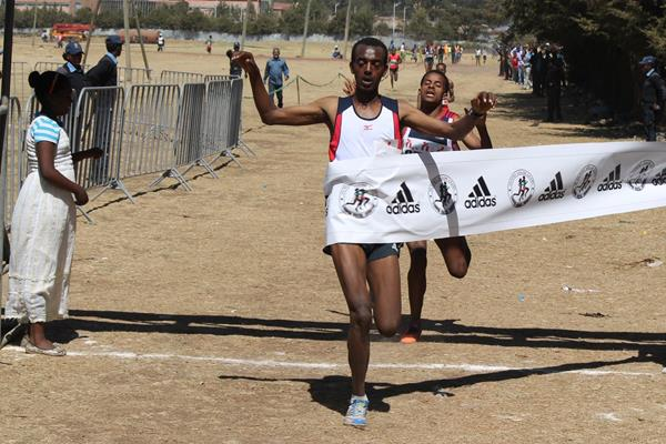 Tamirat Tola wins at the 2015 Jan Meda International Cross Country (Bizuayehu Wagaw)