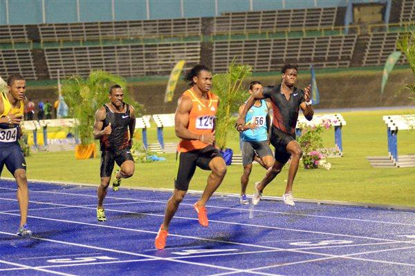 Yohan Blake wins the 100m at the 2012 UTech Classic (Anthony Foster)