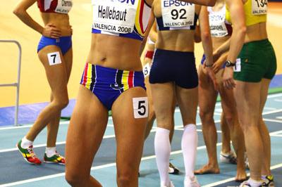 Tia Hellebaut celebrates her pentathlon victory (Getty Images)