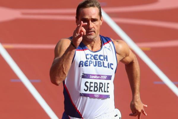 Roman Sebrle in the Decathlon 100m at the London 2012 Olympic Games (Getty Images)