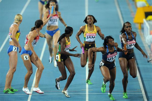 4x400 womens relay use for IAAF Disciplines (Getty images)