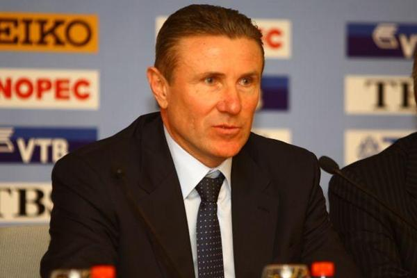 IAAF Vice President Sergey Bubka at the IAAF / LOC Moscow 2013 press conference held on 6 March 2013 (Moscow 2013 LOC)