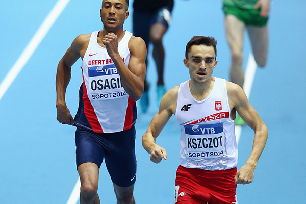 Adam Kszczot wins his 800m heat at the 2014 IAAF World Indoor Championships in Sopot (Getty Images)