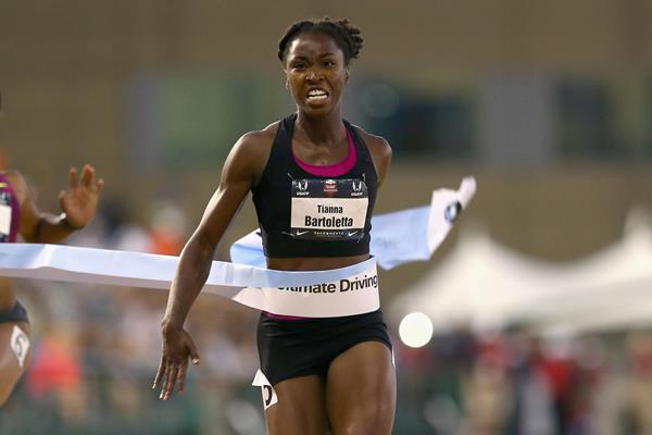 Tianna Bartoletta wins the US 100m title (Getty Images)