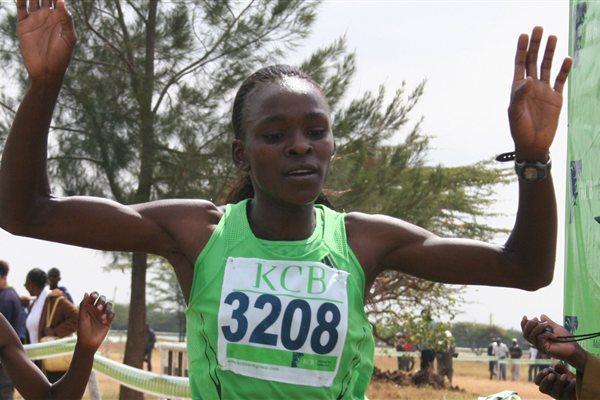Joyce Chepkirui wins the senior women's title at the 2012 KCB National Cross Country Championships  (Credit Ogilvy Communications)