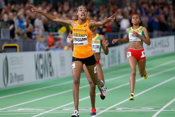 Sifan Hassan at the IAAF World Indoor Championships Portland 2016 (Getty Images)