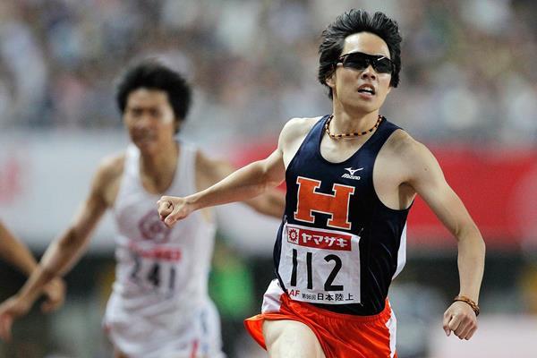 Takayuki Kishimoto, winner of the 400m Hurdles at the Japanese Championships (Getty Images)