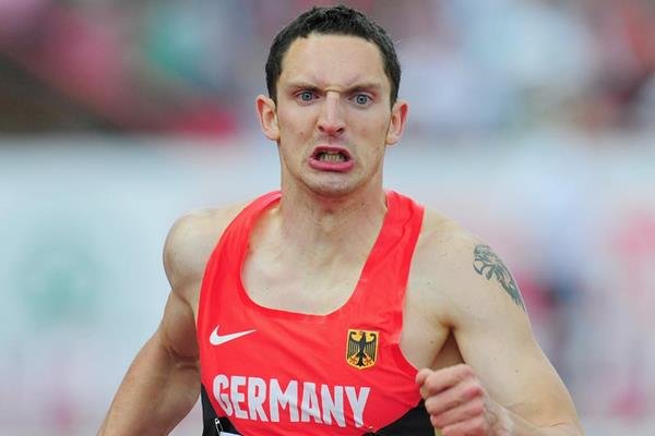 Germany's Silvio Schirrmeister, surprise winner of the 400m Hurdles at the 2013 European Team Championships (Getty Images)