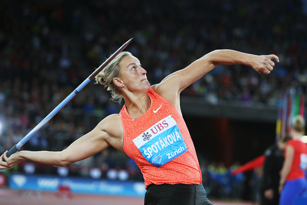 Barbora Spotakova in the javelin at the IAAF Diamond League meeting in Zurich (Jean-Pierre Durand)