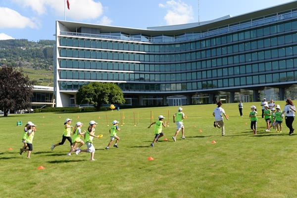 IAAF / Nestlé Kids' Athletics demonstration in Vevey, Switzerland (Jiro Mochizuki)