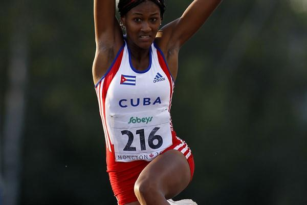 Irisdaymi Herrera flies out to 6.41m in the Long Jump (Getty Images)