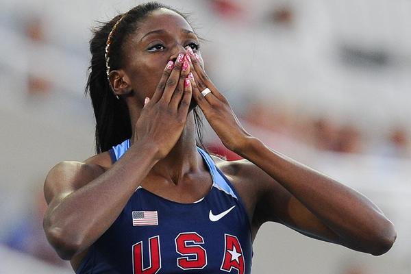 Ashley Spencer after winning the 400m at the 2012 IAAF World Junior Championships (Getty Images)
