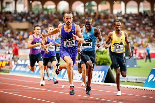 Amel Tuka wins the 800m at the IAAF Diamond League meeting in Monaco (Philippe Fitte)