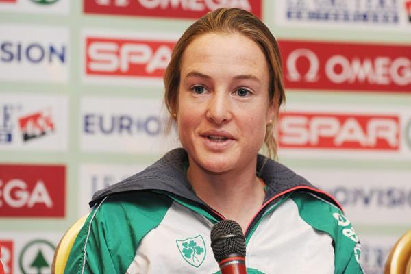 Fionnuala Britton at the pre-event press conference (Getty Images)