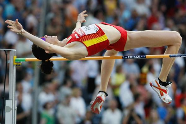 Spanish high jumper Ruth Beitia in action at the 2009 World Championships in Berlin (Getty Images)