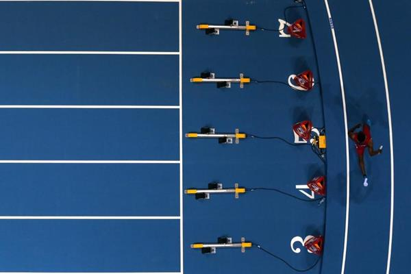 The men's 4x400m final at the 2014 IAAF World Indoor Championships in Sopot (Getty Images)