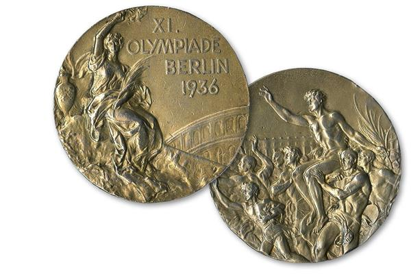 Jesse Owens' Olympic medal from the 1936 Games ()