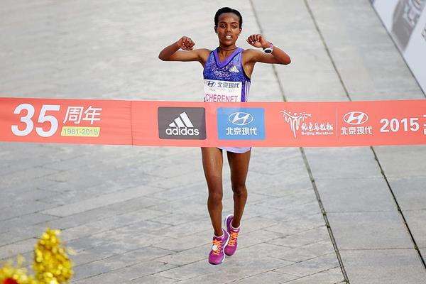 Betelhem Moges wins the Beijing Marathon (Li Ming)