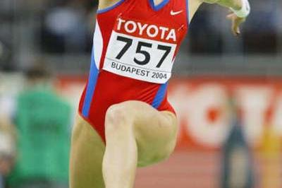 Tatyana Lebedeva breaks the women's Triple Jump record in Budapest (Getty Images)