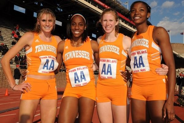 Tennessee quartet senior Sarah Bowman, freshman Chanelle Price, junior Phoebe Wright and senior Kimarra McDonald (Kirby Lee)