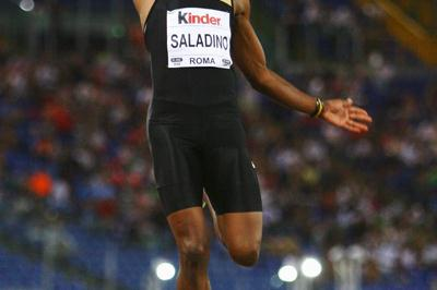 Irving Saladino bounces back from injury with an 8.30m victory in Rome (Getty Images)