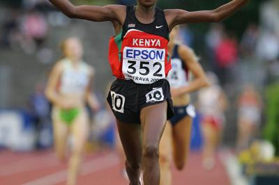 Sammary Cherotich of Kenya wins the 1500m final (Getty Images)