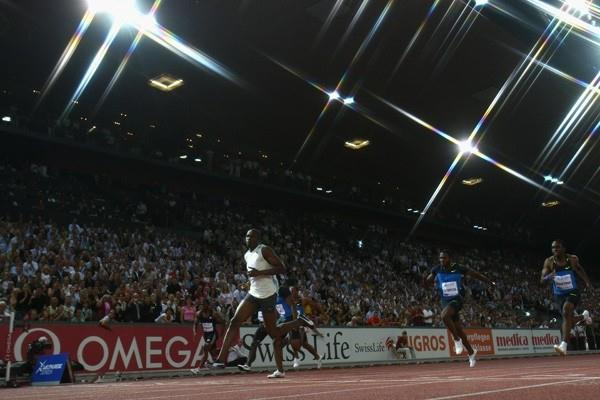 Usain Bolt crosses the line an easy winner in the men's 100m (Getty Images)